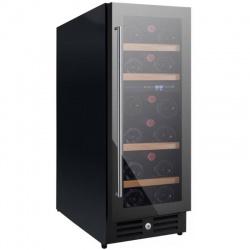 Vitrina de vinuri Nevada Concept NW20D-FG, 20 sticle, doua zone, negru