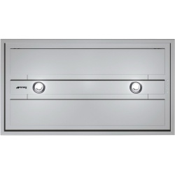 Hota tavan Smeg Universal KSEG90VXNE-2, 90 cm, 800 m3/h, sticla neagra / inox