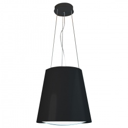 Hota insula SILT 28 LAMP, 48 cm, 550 m3/h, lumina ambientala, Negru