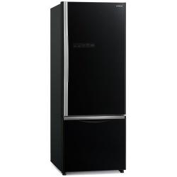Combina frigorifica Hitachi R-B500PRU6(GBK), 415L, Clasa A+, No frost, Negru Glass