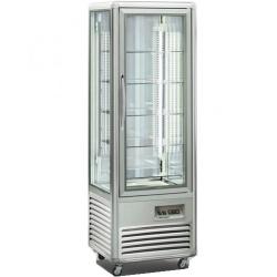 Vitrina frigorifica de cofetarie Tecfrigo Snelle 350 Q Cioccolato, capacitate 350 l, temperatura +14/+16°C, argintiu