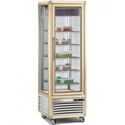 Vitrina frigorifica de cofetarie Tecfrigo Snelle 400 BTV BIS, capacitate 400 l, temperatura +5/-18°C, argintiu/auriu