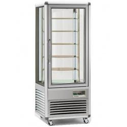 Vitrina frigorifica de cofetarie Tecfrigo Snelle 505 R, capacitate 500 l, temperatura +4/+10°C, argintiu