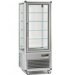 Vitrina frigorifica de cofetarie Tecfrigo Snelle 505 Q, capacitate 500 l, temperatura +4/+10°C, argintiu