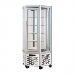 Vitrina frigorifica de cofetarie Tecfrigo Snelle 630 R, capacitate 570 l, temperatura +4/+10°C, argintiu
