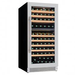 Vitrina vinuri incorporabila Tecfrigo Sommelier 352 Plus, capacitate 163 l, 2 zone temperatura +12+20/ +5+12, negru