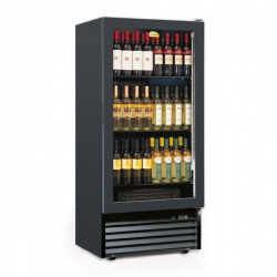 Vitrina de vinuri Tecfrigo CAVE 370 2TV, 84 Sticle, 2 zone de temperatura +5+11/ +14+18°C, negru / inox