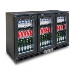 Vitrina frigorifica orizontala pentru bauturi Tecfrigo PUB 315, capacitate 383 l, temperatura +2/+8º C, negru
