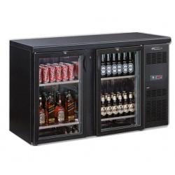 Vitrina orizontala frigorifica pentru bauturi Tecfrigo EUROBAR 2P GLASS, capacitate 349 l, temperatura +4/+10 C, negru