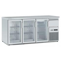 Vitrina frigorifica orizontală Tecfrigo BBX 2V TOP Glass, cu blat de lucru, capacitate 540 l, temperatura +4/+8, argintiu