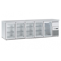 Vitrina frigorifica orizontală Tecfrigo BBX 5V TOP Glass, cu blat de lucru, capacitate 940 l, temperatura +4/+8, argintiu
