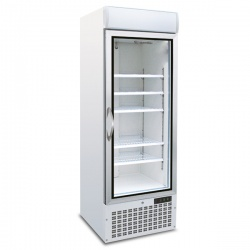 Vitrina frigorifica Tecfrigo POLO 450 GV SPOT, cu caseta luminoasa, capacitate 578L, temperatura +2/+8°C, alb
