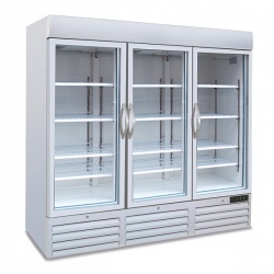 Vitrina frigorifica Tecfrigo POLO 1400 GV SPOT, cu caseta luminoasa, 3 usi, capacitate 1657L, temperatura +2/+8°C, alb