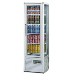 Vitrina frigorifica bauturi Tecfrigo SNELLE DRINK 280 G, capacitate 280L, temperatura +5/+10°C, argintiu