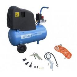 Set compresor fara ulei cu piston Gude 210/08/24 + 12 accesorii