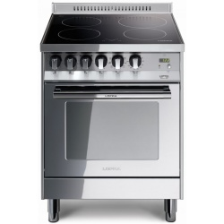 Aragaz Lofra Maxima PL66MFT/4I, 60x60 cm, electric, 4 arzatoare, grill electric, timer, aprindere electronica, inox
