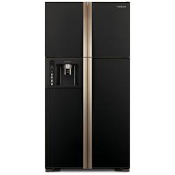 Side by Side Hitachi R-W660PRU3(GBK), Clasa A+, 586 Litri, 183 cm inaltime, Sticla neagra