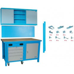 Banc de lucru cu masa si sertare SET MEGA 31 TLG - 00731