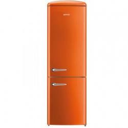 Combina frigorifica Gorenje Old Time ORK192O, FrostLess, 326 l, Clasa A++, 194 cm, Portocaliu