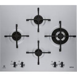 Plita incorporabila rustica Electrolux EGH6343BOR, Gaz, 4 arzatoare, 60 cm, Aprindere electrica integrata, Negru