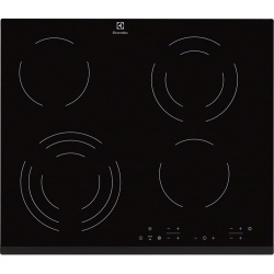 Plita incorporabila Electrolux EHF6343FOK, Vitroceramica, 4 zone gatit, Touch control, Sticla neagra