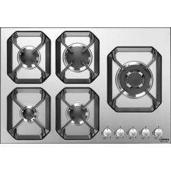 Plita incorporabila Lofra Urano HLS7D0, 75 cm, plita gaz, 5 arzatoare,sistem siguranta Stop-Gaz,inox