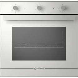 Cuptor gaz incorporabil Smalvic GLASS BIANCO FI-74GEVTC, 60cm, 74l, grill electric, alb
