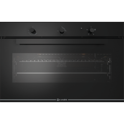 Cuptor gaz incorporabil Smalvic GLASS NERO FI-95GEVTC, 90cm, 110l, grill electric, negru