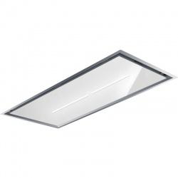 Hota de tavan incorporabila Baraldi Gea flat inox-glass 01GEAF120SVWSL, 120 cm, motor Kube 900 m3/h, sticla alba/inox